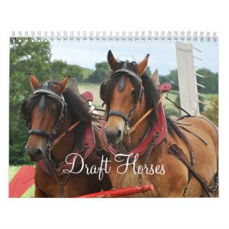 Draft Horses 2016 Calendar