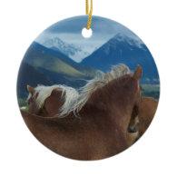 Draft Horses Christmas Tree Ornament