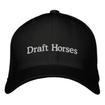 Draft Horses Embroidered Baseball Cap