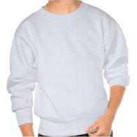 Draft horses in field sweatshirts
