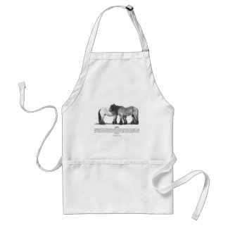 Draft Horses in Pencil: Bible Verses About LOVE Adult Apron