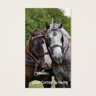 Draft horses talking business card