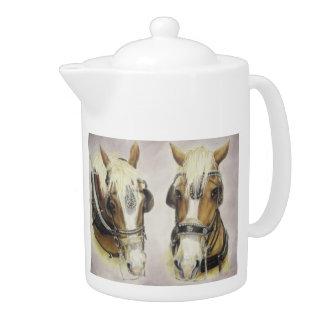 Draft Horses Teapot
