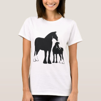 Draft Mare and Foal T-Shirt