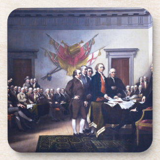 Draft of the Declaration of Independence Coasters