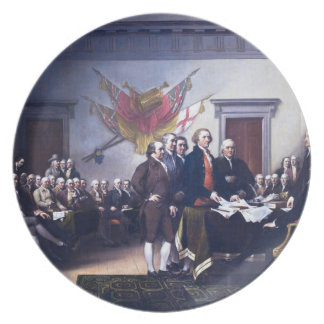 Draft of the Declaration of Independence Plate