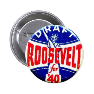 Draft Roosevelt - Button