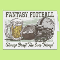 Draft the Sure Thing Fantasy Football Gear Card