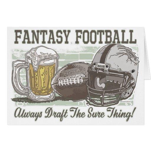 Draft the Sure Thing Fantasy Football Gear Card