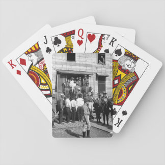 Drafted men reporting for service_War Image Playing Cards
