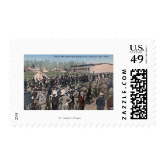 Drafted Men Reporting to Camp Lewis Postage
