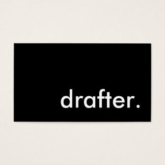 drafter. business card