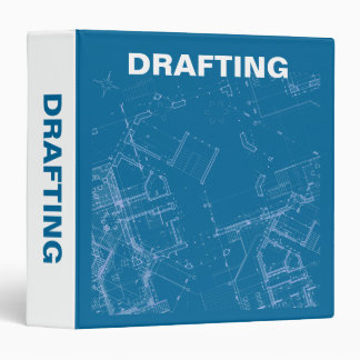 Blueprint custom binders zazzle drafting 3 ring binder malvernweather Image collections