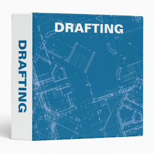 Blueprint of binders zazzle drafting blueprints 3 ring binder malvernweather Choice Image