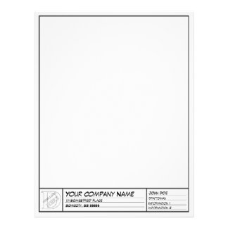 Drafting Frame Template Personalized Letterhead