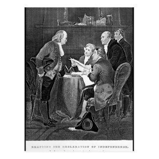 Drafting the Declaration of Independen_War Image Postcard