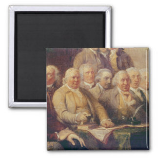 Drafting the Declaration of Independence 2 Inch Square Magnet