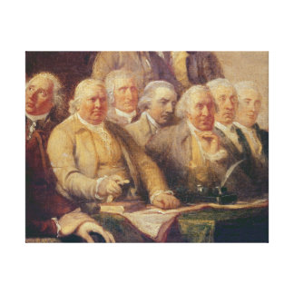Drafting the Declaration of Independence Canvas Print