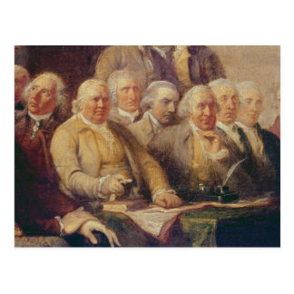 Drafting the Declaration of Independence Postcard