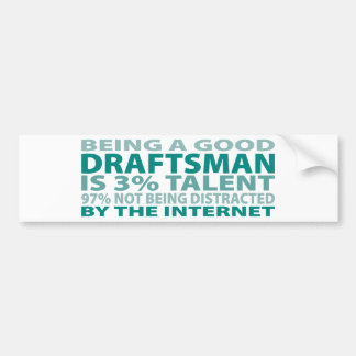 Draftsman 3% Talent Bumper Sticker
