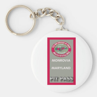 Drag A Way Pit Pass Keychain