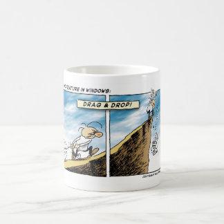 Drag and Drop Classic White Coffee Mug