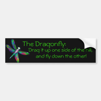 Drag And Fly (for cars that lack power ; ) Car Bumper Sticker