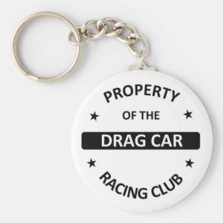 Drag Car Racing Club Keychain