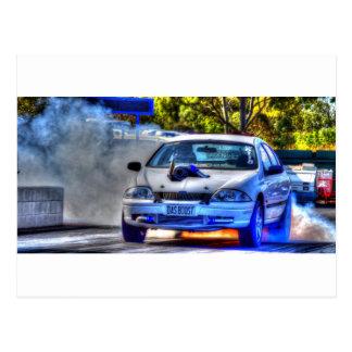 DRAG CAR RACING RURAL QUEENSLAND AUSTRALIA POSTCARD
