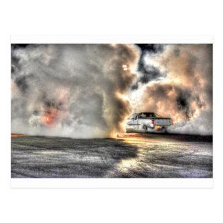 DRAG CAR RURAL QUEENSLAND AUSTRALIA ART EFFECTS POSTCARD