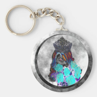 Drag Pageant Psychedelic Clouds Keychain