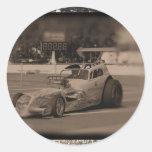 drag photo zazzle1.jpg classic round sticker