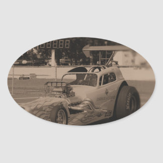drag photo zazzle1.jpg oval sticker