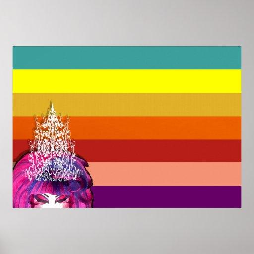 Drag Pride Flag (Unofficial) Print