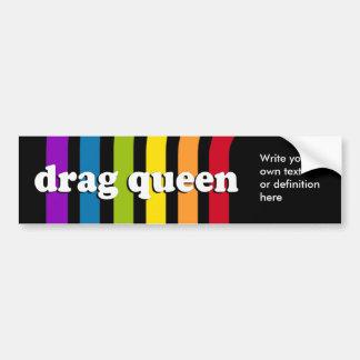 DRAG QUEEN Definition Bumper Sticker