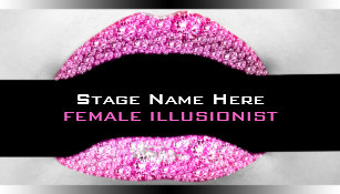 Bling business cards templates zazzle drag queen hot pink diamond bling business card colourmoves