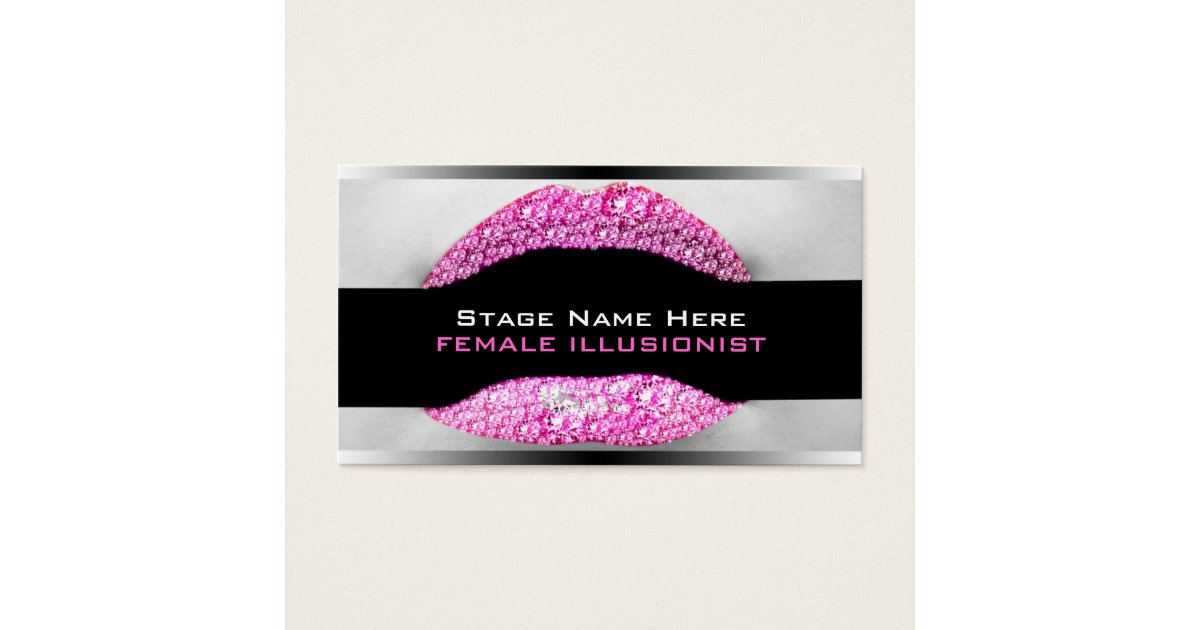 Drag Queen Hot Pink Diamond Bling Business Card | Zazzle.com