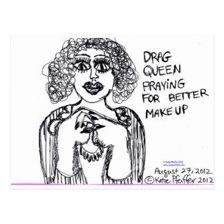 Drag Queen Looking For Better Makeup Postcard