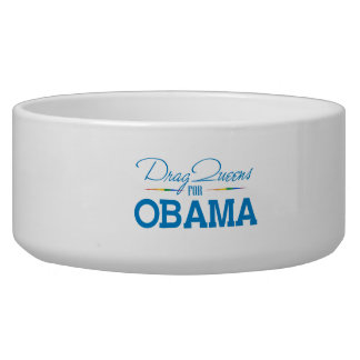 Drag Queens for Obama Dog Water Bowls