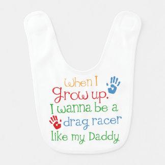 Drag Racer handprints Baby Gift Baby Bib