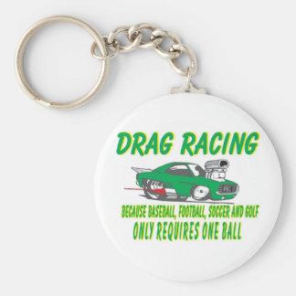 drag racing 1 basic round button keychain