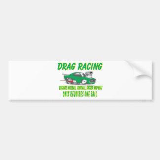 drag racing 1 bumper sticker