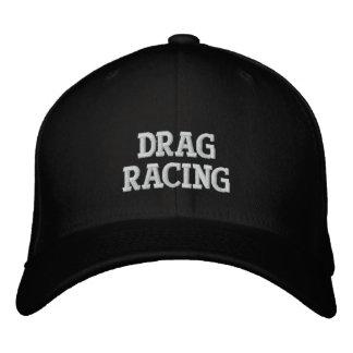 DRAG RACING EMBROIDERED BASEBALL CAP