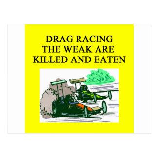 DRAG racing joke Postcard