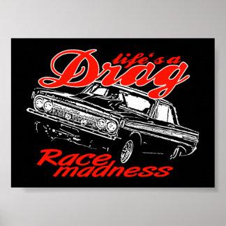 Drag racing team print