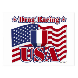 Drag Racing USA Postcard