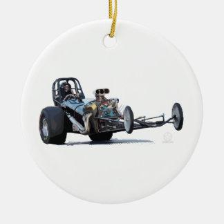 Drag Racing & Vintage Dragsters Ceramic Ornament