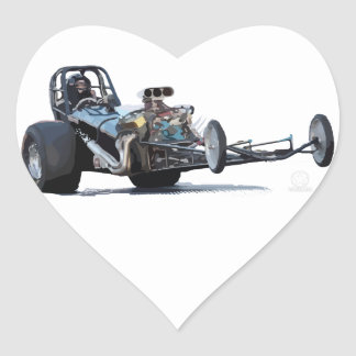 Drag Racing & Vintage Dragsters Heart Sticker