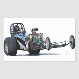 Drag Racing & Vintage Dragsters Rectangular Sticker