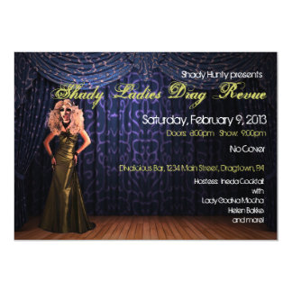 Drag Show Custom Invitations